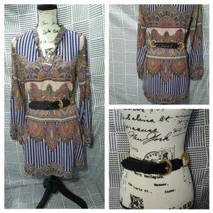 Paper Crane dress & vintage Doppia Vita belt